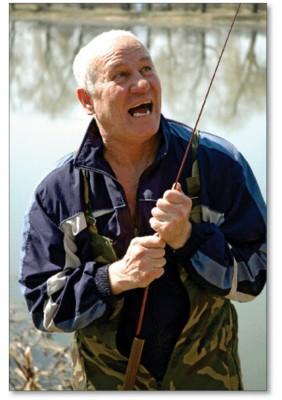 Актор знає, як перехитрити рибу